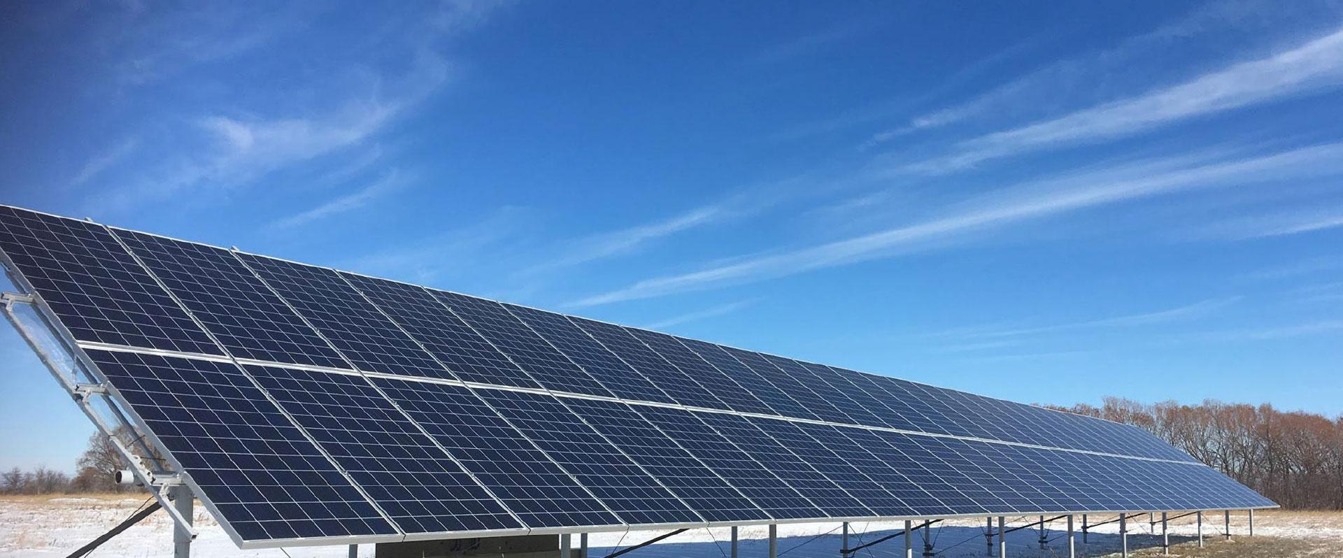 large solar grid