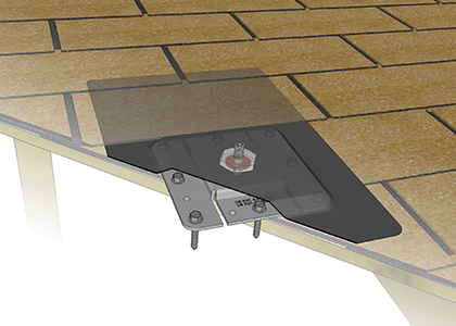 Solar Panel Shingled Roof Mount System With Ap Micro